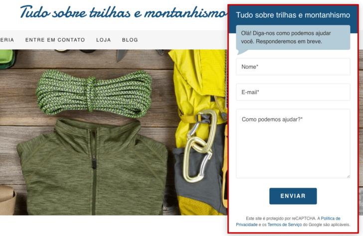 Sistema permite que usuários enviem mensagens de qualquer página do site