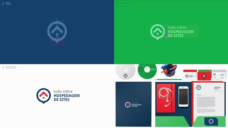 Trecho da apresentação do projeto do logotipo do Tudo Sobre Hospedagem de Sites