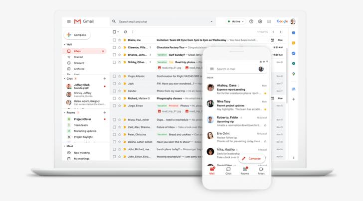 Gmail é um serviço de e-mails criado pelo Google