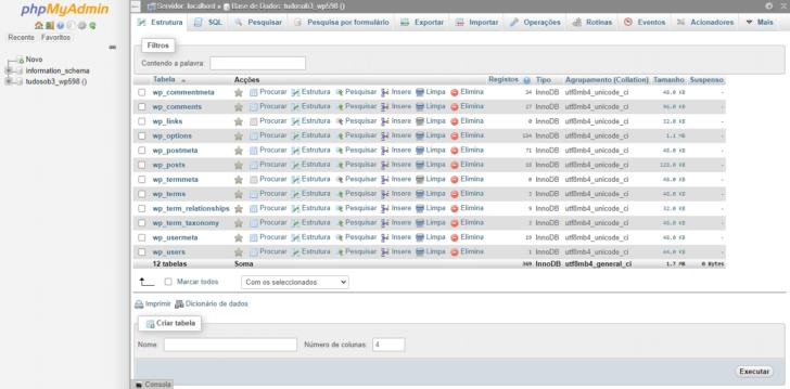 O phpMyAdmin é uma aplicação feita em PHP que permite gerenciar bancos de dados MySQL diretamente no navegador