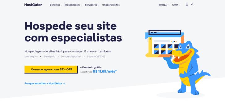 Site HostGator.com.br