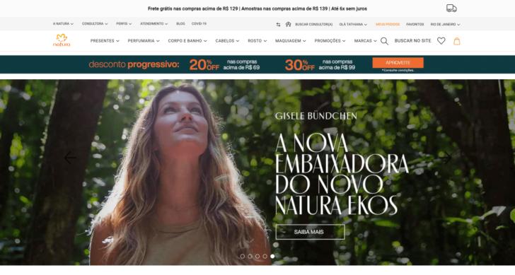 Site da Natura usa o .com.br e reforça sua identidade brasileira