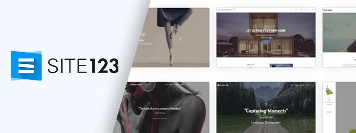 Criador de sites Site123