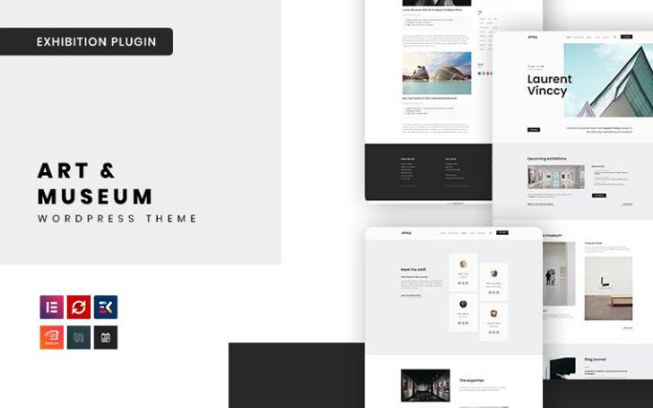 Artey - Tema WordPress de Arte e Museu