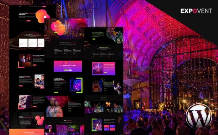 Expovent WordPress Theme - Event Booking & Gala Ticketing