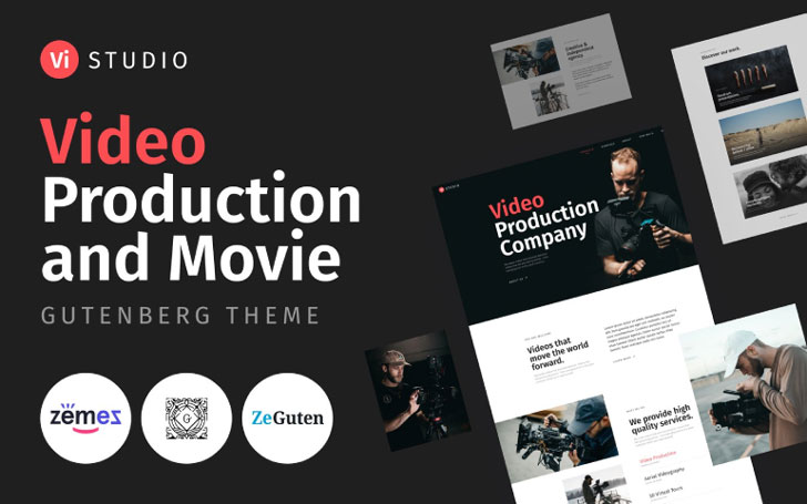 Vistudio - Video Production and Movie Choice from Entertainment WordPress Themes
