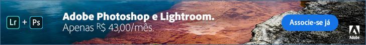 Adobe Photoshop e Lightroom apenas R$ 43 por mês. Associe-se já!