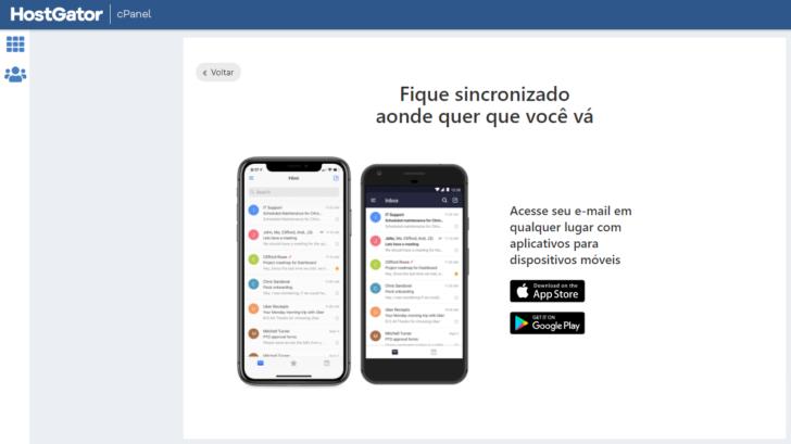 O Titan possui aplicativos próprios para usar com o e-mail profissional