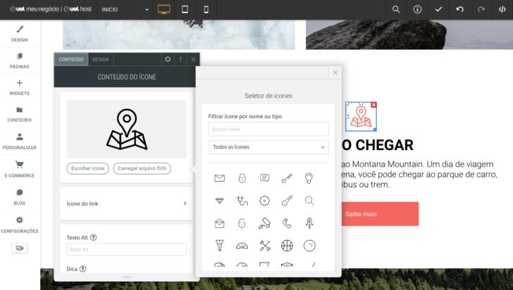 Galeria de ícones gratuitos para uso no site